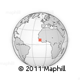 Outline Map of Coyah