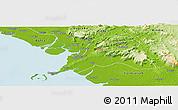 Physical Panoramic Map of Coyah
