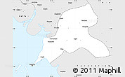 Silver Style Simple Map of Coyah