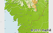 Physical Map of Forecariah