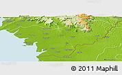 Physical Panoramic Map of Forecariah