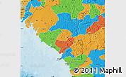 Political Map of Kindia