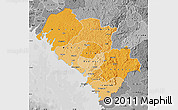 Political Shades Map of Kindia, desaturated