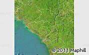 Satellite Map of Kindia