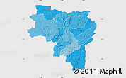 Political Shades Map of Labe, cropped outside