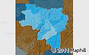 Political Shades Map of Labe, darken