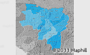 Political Shades Map of Labe, desaturated