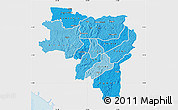 Political Shades Map of Labe, single color outside
