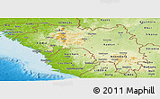 Physical Panoramic Map of Guinea