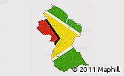 Flag 3D Map of Guyana