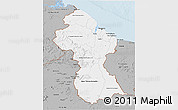 Gray 3D Map of Guyana