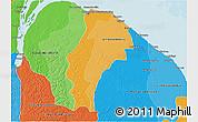 Political Shades 3D Map of Demerara/mahaica