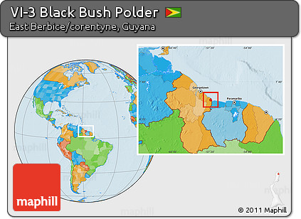 political location map of vi 3 black bush polder