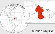 Blank Location Map of Guyana