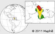 Flag Location Map of Guyana, blank outside