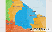 Political Shades 3D Map of Mahaica/berbice