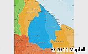 Political Shades Map of Mahaica/berbice