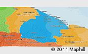 Political Shades Panoramic Map of Mahaica/berbice