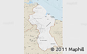 Classic Style Map of Guyana