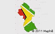 Flag Map of Guyana