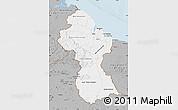 Gray Map of Guyana