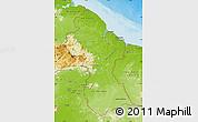 Physical Map of Guyana