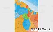 Political Map of Guyana