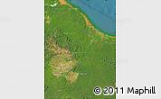 Satellite Map of Guyana
