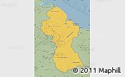 Savanna Style Map of Guyana