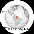 Outline Map of Guyana