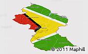 Flag Panoramic Map of Guyana
