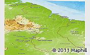 Physical Panoramic Map of Guyana