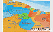 Political Panoramic Map of Guyana