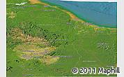 Satellite Panoramic Map of Guyana