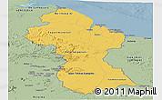Savanna Style Panoramic Map of Guyana