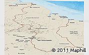 Shaded Relief Panoramic Map of Guyana