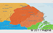 Political Shades Panoramic Map of Pomeroon/supenaam
