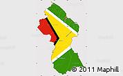 Flag Simple Map of Guyana