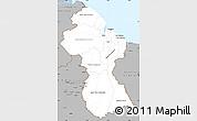Gray Simple Map of Guyana