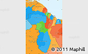 Political Simple Map of Guyana