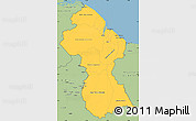 Savanna Style Simple Map of Guyana