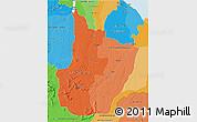 Political Shades 3D Map of Upper Demerara/berbice