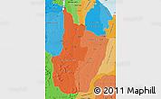 Political Shades Map of Upper Demerara/berbice