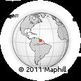 Outline Map of Upper Demerara/berbice