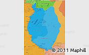 Political Shades 3D Map of Upper Takutu/u.Essequibo