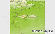 Physical Panoramic Map of IX-1 Rupununi West