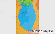 Political Shades Map of Upper Takutu/u.Essequibo