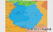 Political Shades Panoramic Map of Upper Takutu/u.Essequibo