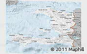 Gray 3D Map of Haiti