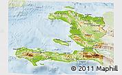Physical 3D Map of Haiti, lighten